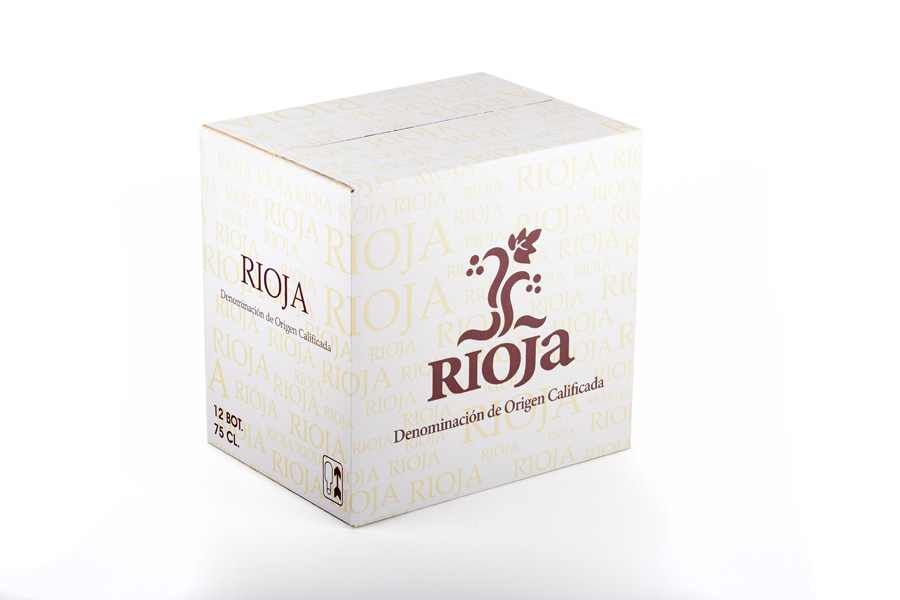 Caja 12 botellas bordelesa Sello Rioja 290mm