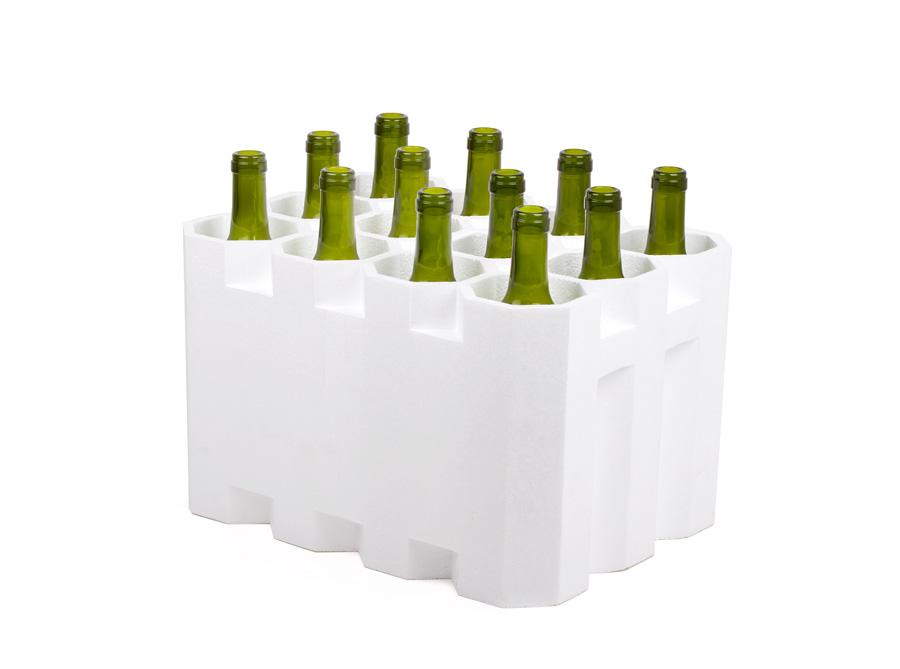 Estuche 12 botellas poliexpan