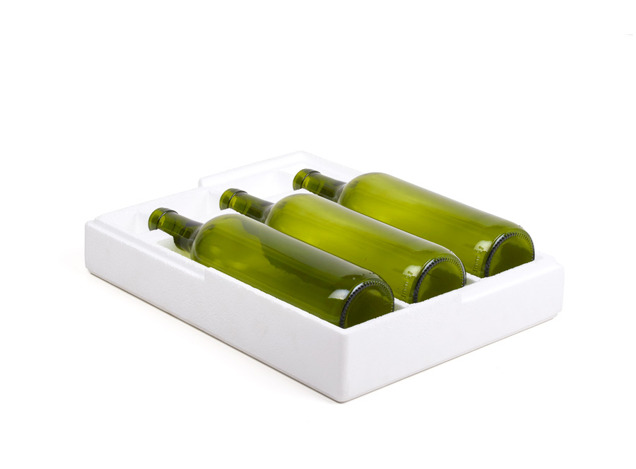 Estuche 3 botellas poliexpan