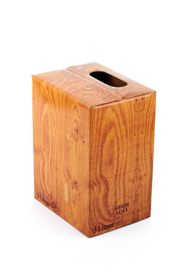 Caja fondo madera plastificada