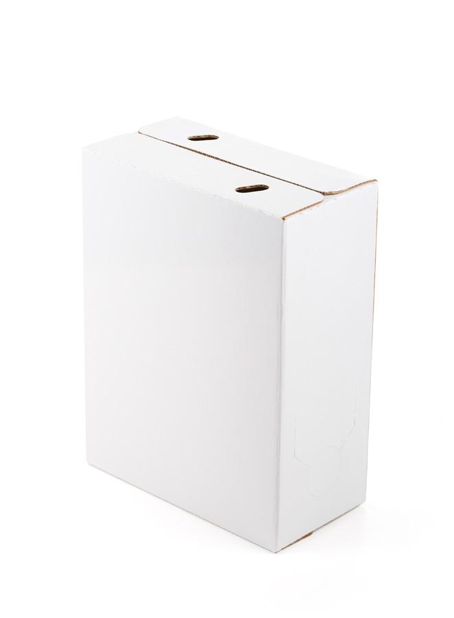 Caja blanca plastificada